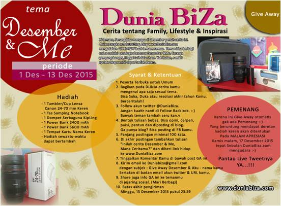 Give Away DuniaBiZa