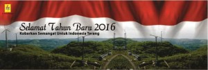 Selamat Tahun Baru untuk Indonesia Terang. Sumber : PLN