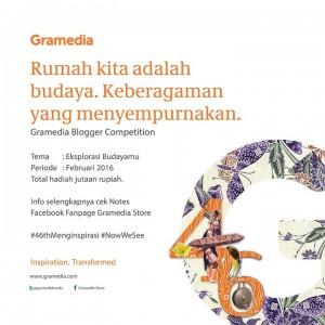 Lomba Blog Gramedia Epresikan Budayamu