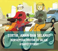 Rambu Simpang Tiga Safety First