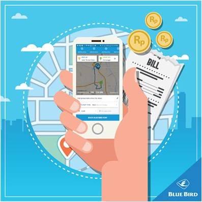 fitur estimation cost aplikasi MyBlueBird