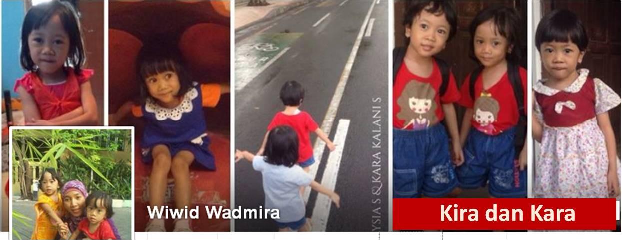 Wiwid Wadmira bersama Si Kembar Kira dan Kara