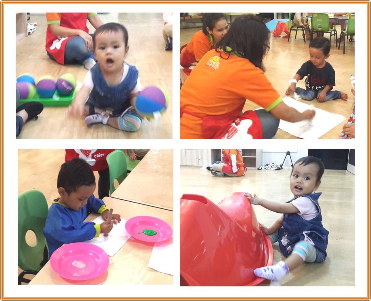 Aktivitas belajar sambil bermain dengan fasilitas Kids club