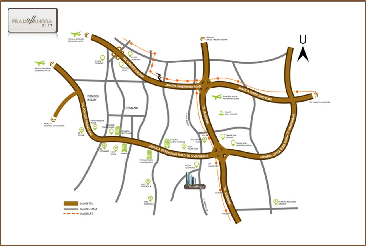 Denah Lokasi Prajawangsa City