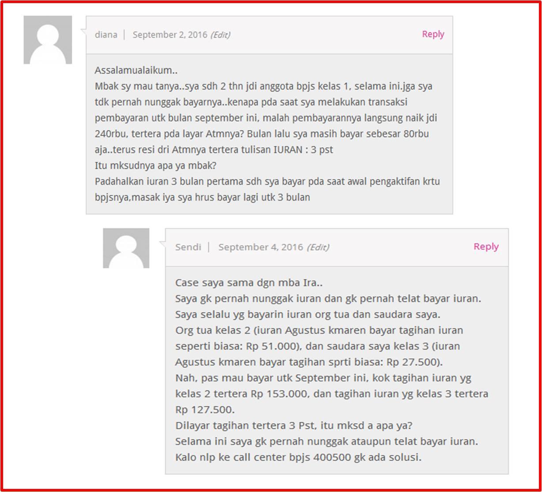 Beberapa komentar yang masuk ke DuniaBiza