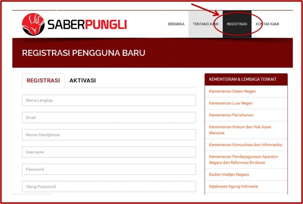 form registrasi yang harus dilengkapi