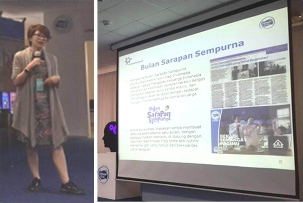 Ibu Tanti menjelaskan beragam inovasi dan program Frisian Flag Susu Kental Manis