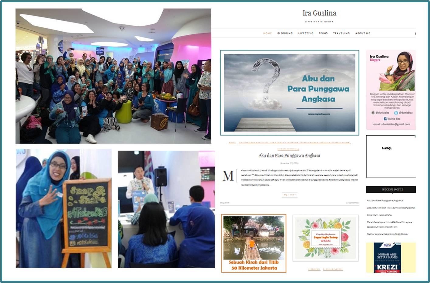 Blog Iraguslina.com, hadiah dari DotComForMe saat Arisan Ilmu KEB