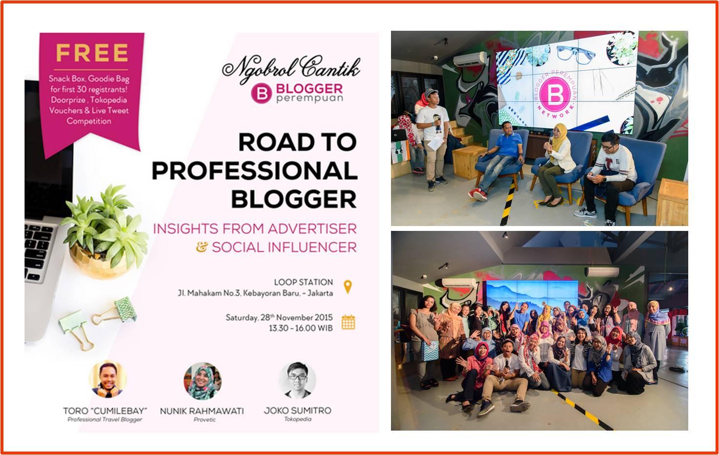 Ngobrol Cantik Road To Prefisional Bloger