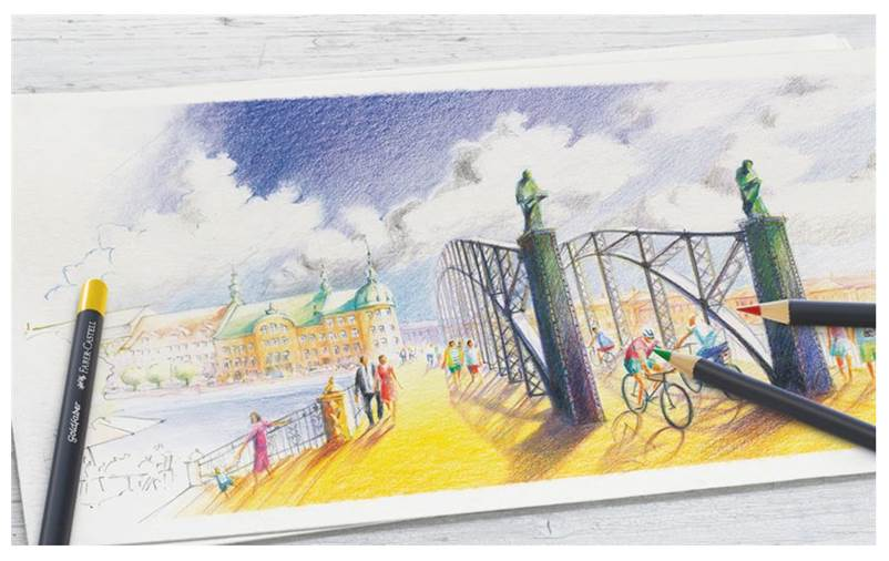 100+ Gambar Pemandangan Faber Castell Paling Keren