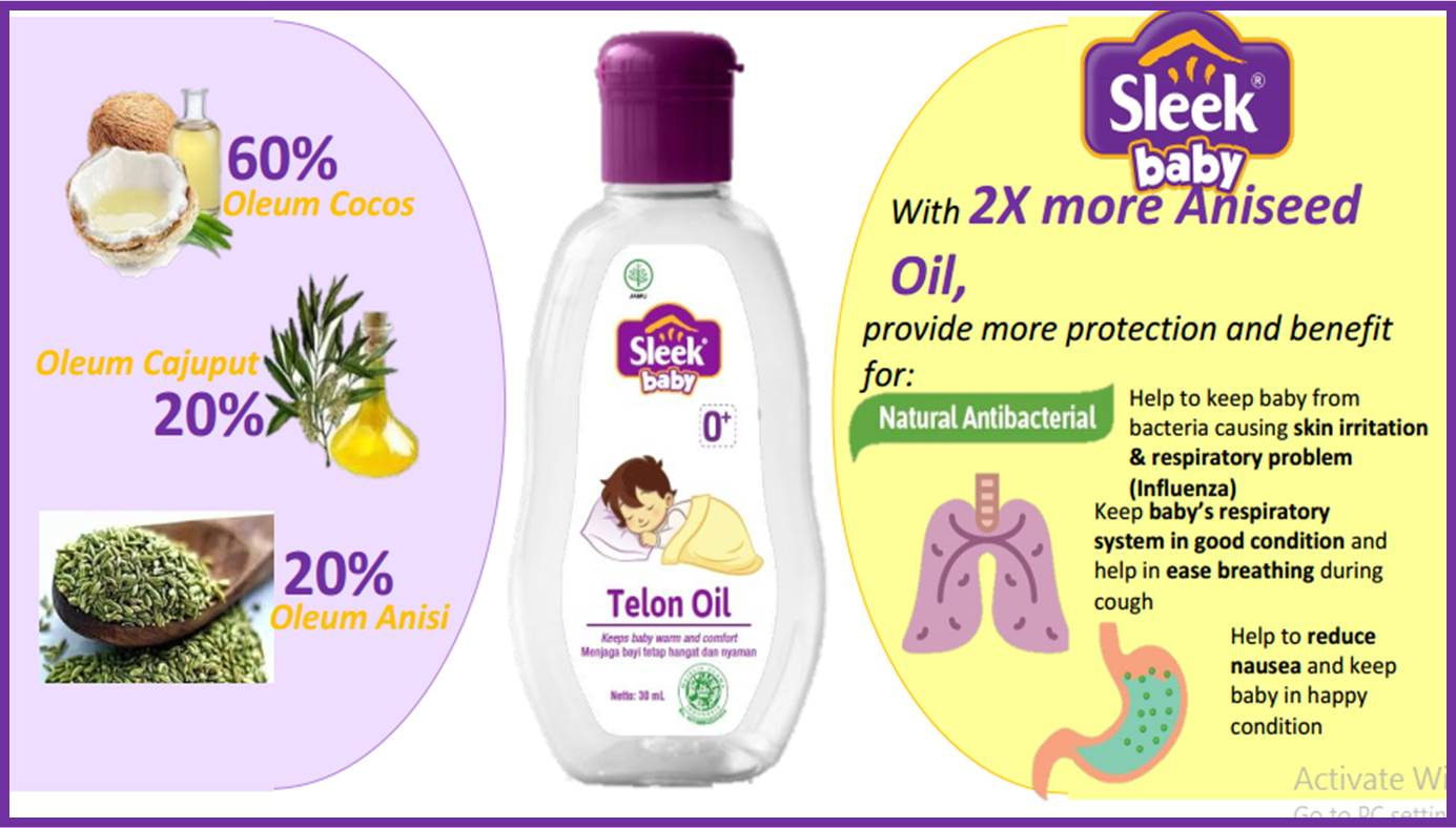Manfaat Sleek baby Telon Oil