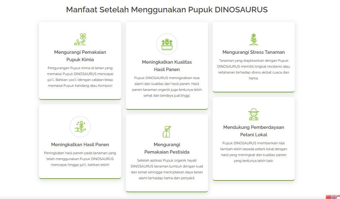 Manfaat Pupuk Dinosaurus