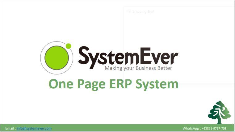 Sistem Cloud ERP Manajemen Inventory SystemEver untuk Usaha